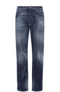 Джинсы свободного кроя с потертостями 2 Men Jeans