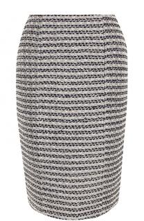 Буклированная юбка-миди с разрезом St. John