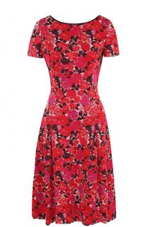 Приталенное платье-миди с цветочным принтом St. John