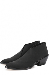 Ботинки из эластичного текстиля на устойчивом каблуке Walter Steiger