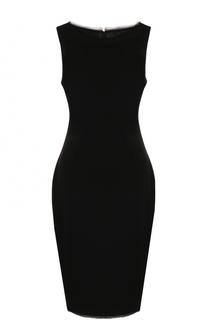 Приталенное платье-миди без рукавов St. John