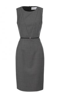 Приталенное мини-платье с поясом BOSS