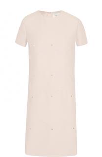 Мини-платье А-силуэта с декоративной отделкой Valentino
