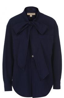 Блуза свободного кроя с воротником аскот Burberry