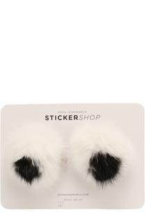 Стикеры Eyes Fur из меха норки Anya Hindmarch