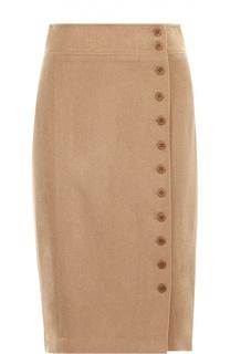 Шерстяная юбка-карандаш с декоративной отделкой Polo Ralph Lauren