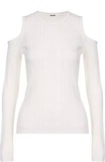 Пуловер фактурной вязки с открытыми плечами Elie Tahari