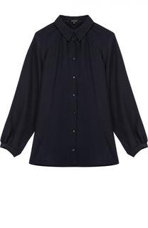 Шелковая блуза прямого кроя с укороченным рукавом Escada