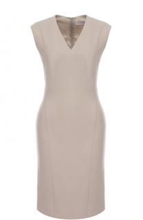 Приталенное платье с V-образным вырезом BOSS