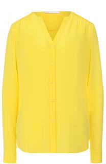 Блуза прямого кроя с V-образным вырезом BOSS