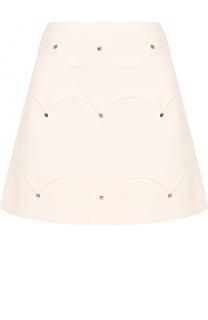 Мини-юбка с заклепками Valentino