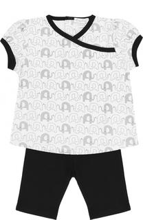 Хлопковый комплект из футболки и брюк Kissy Kissy
