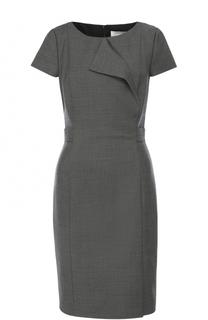 Приталенное платье с короткими рукавами BOSS