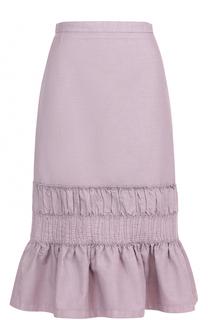 Хлопковая юбка-годе Dries Van Noten