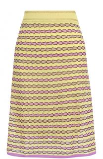 Вязаная юбка А-силуэта с принтом M Missoni