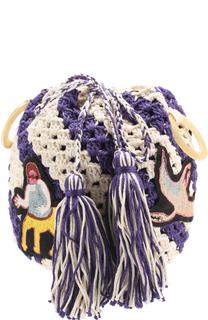 Вязаная сумка с нашивками Peter Pilotto