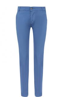 Хлопковые брюки прямого кроя 2 Men Jeans