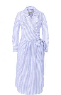 Приталенное платье-рубашка в полоску Burberry