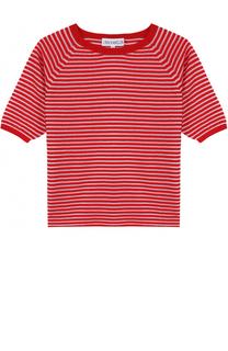 Хлопковый пуловер в контрастную полоску Simonetta