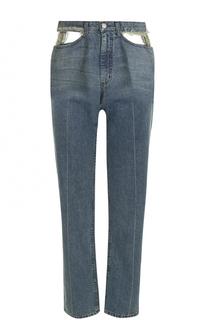 Укороченные джинсы с потертостями и разрезами Rachel Comey