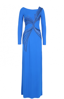 Приталенное платье-макси с вышивкой Emilio Pucci