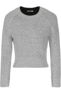 Укороченный вязаный пуловер с круглым вырезом Balenciaga