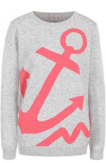Кашемировый пуловер прямого кроя с принтом FTC