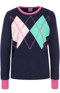Кашемировый пуловер с круглым вырезом FTC