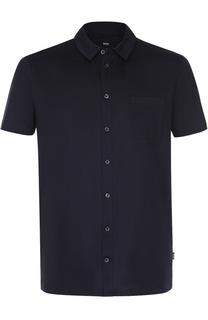 Хлопковая сорочка с короткими рукавами BOSS