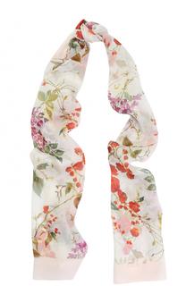 Шелковый шарф с принтом Escada