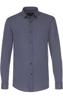 Хлопковая сорочка с принтом BOSS