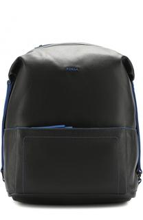 Кожаный рюкзак с внешним карманом на молнии Furla