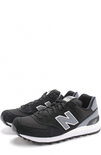 Замшевые кроссовки 574 с текстильными вставками New Balance