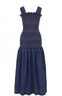 Приталенное джинсовое платье-миди Stella McCartney