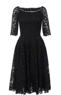 Приталенное кружевное платье с укороченным рукавом Dolce & Gabbana