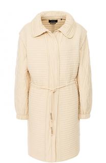 Приталенное стеганое пальто с отложным воротником Isabel Marant