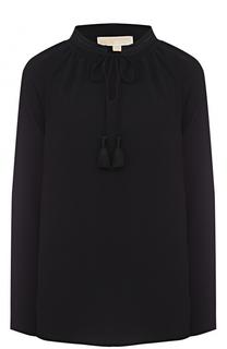 Блуза прямого кроя с воротником-стойкой MICHAEL Michael Kors