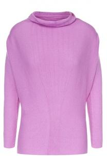 Кашемировый свитер с воротником-хомут и укороченным рукавом Armani Collezioni
