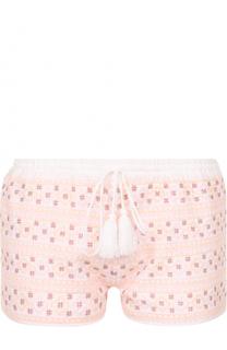 Мини-шорты с контрастной вышивкой Melissa Odabash