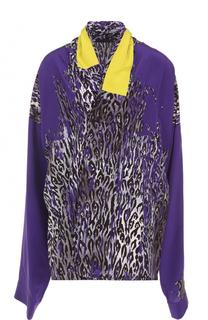 Шелковая блуза свободного кроя с принтом Haider Ackermann