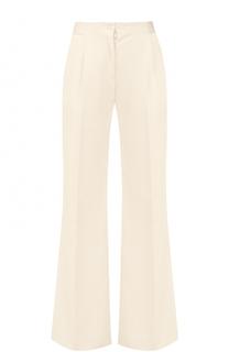Расклешенные брюки со стрелками и завышенной талией malo