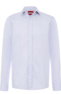 Хлопковая сорочка с воротником кент HUGO