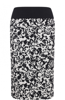 Вязаная юбка-карандаш с принтом BOSS