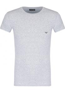 Хлопковая футболка с круглым вырезом Emporio Armani