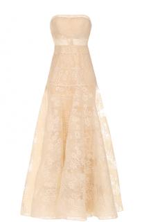 Приталенное кружевное платье-бюстье Basix Black Label