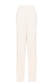 Расклешенные брюки с завышенной талией и лампасами Elie Saab