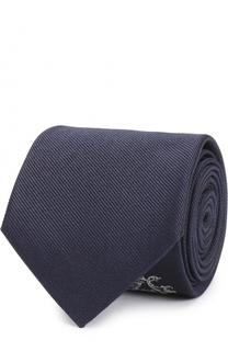 Шелковый галстук с контрастной вышивкой Alexander McQueen