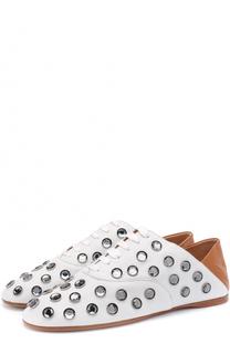 Кожаные ботинки с кристаллами и мягким задником Acne Studios