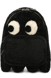 Рюкзак Ghost Mini с отделкой овчиной Anya Hindmarch