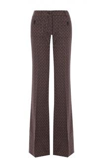 Расклешенные брюки с фактурной отделкой и стрелками Roberto Cavalli